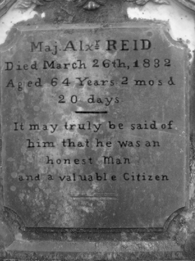 Major Alexander Reid Headstone