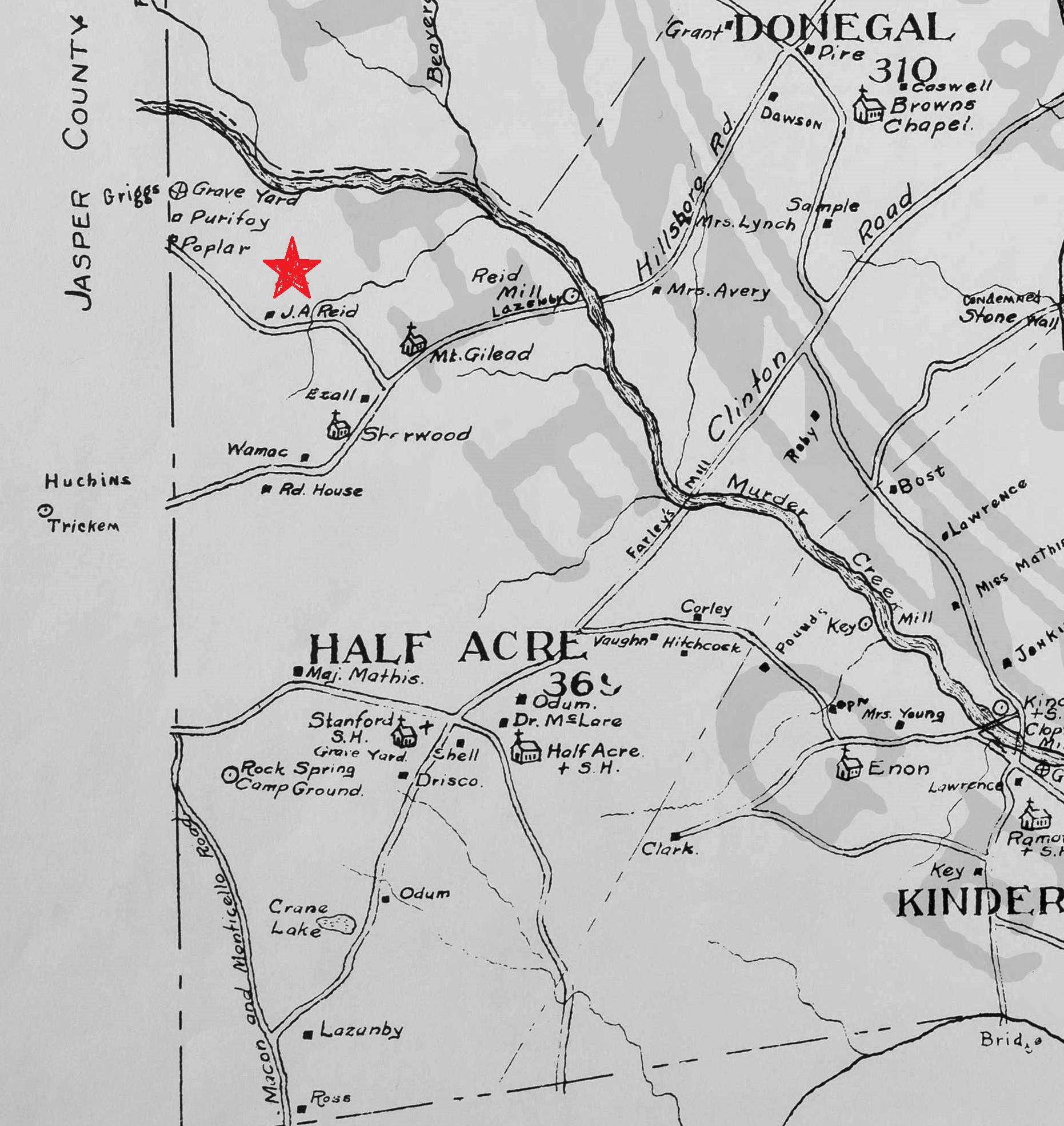Map_of_Putnam_County 1878 - Half Acre - reid