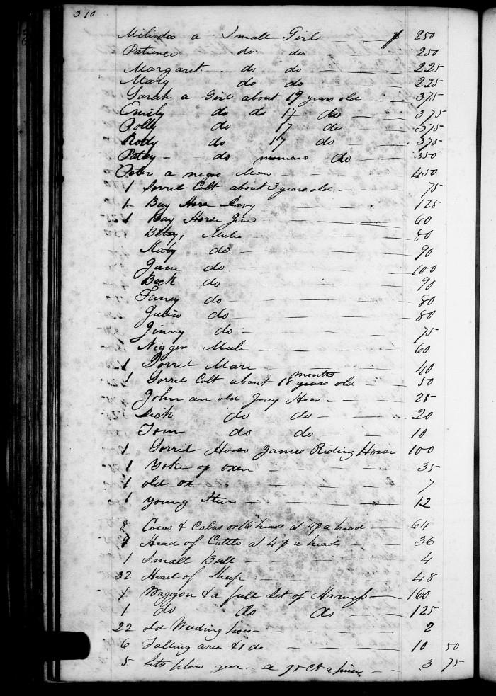 1832 Inventory List of Alex Reid p2